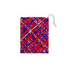Red And Blue Pattern Drawstring Pouches (xs)