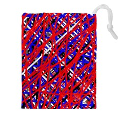 Red And Blue Pattern Drawstring Pouches (xxl)