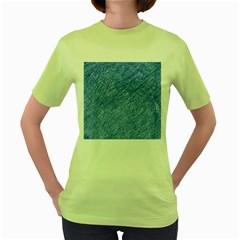 Blue pattern Women s Green T-Shirt