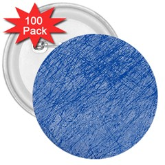 Blue pattern 3  Buttons (100 pack)