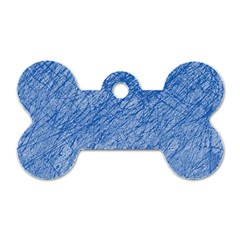 Blue pattern Dog Tag Bone (Two Sides)