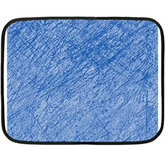 Blue pattern Double Sided Fleece Blanket (Mini)