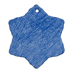 Blue pattern Snowflake Ornament (2-Side)