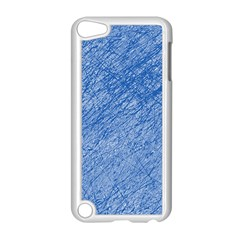Blue pattern Apple iPod Touch 5 Case (White)