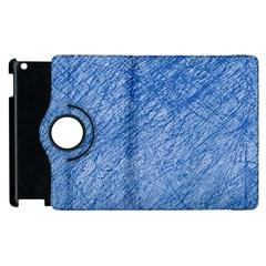 Blue pattern Apple iPad 3/4 Flip 360 Case