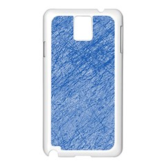 Blue pattern Samsung Galaxy Note 3 N9005 Case (White)