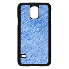 Blue pattern Samsung Galaxy S5 Case (Black)
