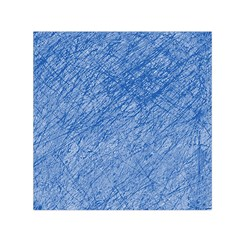 Blue pattern Small Satin Scarf (Square)