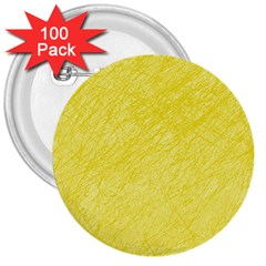 Yellow pattern 3  Buttons (100 pack)