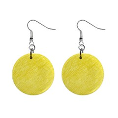 Yellow pattern Mini Button Earrings