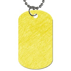Yellow pattern Dog Tag (Two Sides)