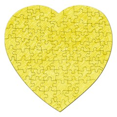 Yellow pattern Jigsaw Puzzle (Heart)