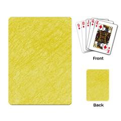 Yellow pattern Playing Card