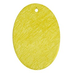 Yellow pattern Oval Ornament (Two Sides)