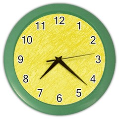 Yellow pattern Color Wall Clocks
