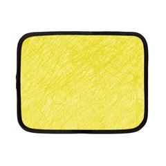 Yellow pattern Netbook Case (Small)