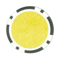 Yellow pattern Poker Chip Card Guards (10 pack)
