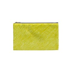 Yellow pattern Cosmetic Bag (Small)