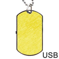 Yellow pattern Dog Tag USB Flash (Two Sides)