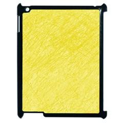 Yellow pattern Apple iPad 2 Case (Black)