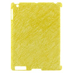 Yellow pattern Apple iPad 2 Hardshell Case (Compatible with Smart Cover)