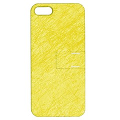 Yellow pattern Apple iPhone 5 Hardshell Case with Stand