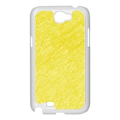 Yellow pattern Samsung Galaxy Note 2 Case (White)