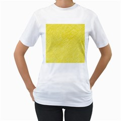 Yellow pattern Women s T-Shirt (White)