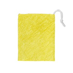 Yellow pattern Drawstring Pouches (Medium)