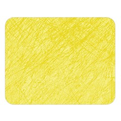 Yellow pattern Double Sided Flano Blanket (Large)
