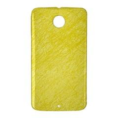 Yellow pattern Nexus 6 Case (White)