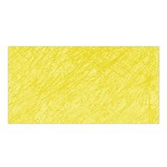 Yellow pattern Satin Shawl