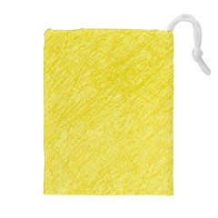 Yellow pattern Drawstring Pouches (Extra Large)