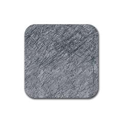 Gray pattern Rubber Coaster (Square)