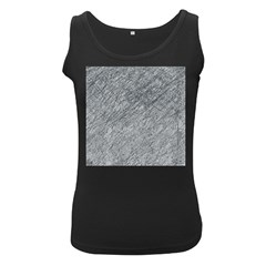 Gray pattern Women s Black Tank Top