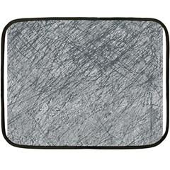 Gray pattern Double Sided Fleece Blanket (Mini)