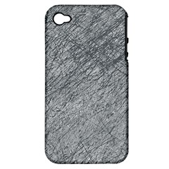 Gray pattern Apple iPhone 4/4S Hardshell Case (PC+Silicone)