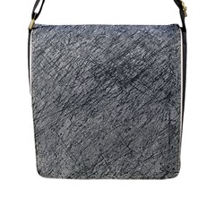 Gray pattern Flap Messenger Bag (L)