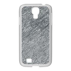 Gray pattern Samsung GALAXY S4 I9500/ I9505 Case (White)