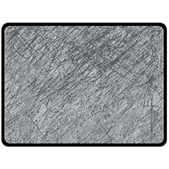 Gray pattern Double Sided Fleece Blanket (Large)