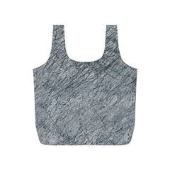 Gray pattern Full Print Recycle Bags (S)