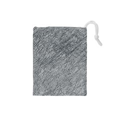 Gray pattern Drawstring Pouches (Small)