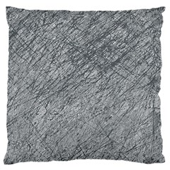Gray pattern Large Flano Cushion Case (One Side)