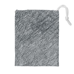Gray pattern Drawstring Pouches (Extra Large)