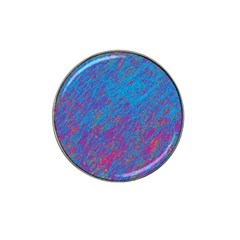 Blue pattern Hat Clip Ball Marker (4 pack)