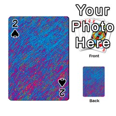 Blue pattern Playing Cards 54 Designs