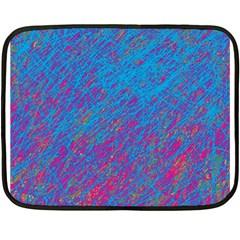 Blue pattern Fleece Blanket (Mini)