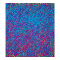 Blue pattern Shower Curtain 66  x 72  (Large)
