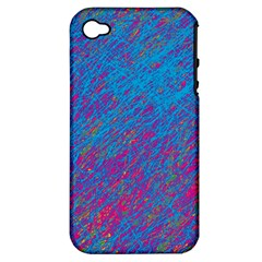 Blue pattern Apple iPhone 4/4S Hardshell Case (PC+Silicone)