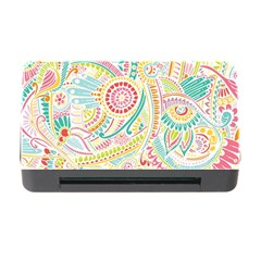 Hippie Flowers Pattern, Pink Blue Green, Zz0101 Memory Card Reader With Cf